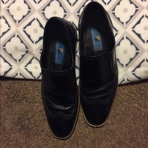 Men's Black Slip-On Dress Shoes